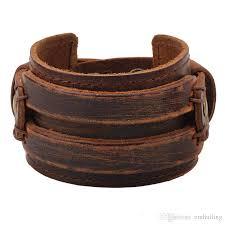 black leather cuff bracelet images Genuine leather cuff bracelet for men chunky super wide belt cover jpg