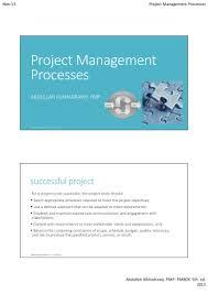 pmp pmbok 5th project management processes