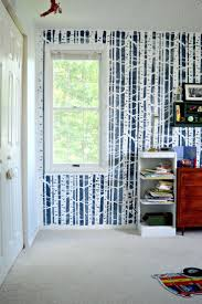 203 best nature stencils decor images on pinterest cutting a boys nature themed bedroom with a diy stenciled accent wall featuring the birch forest allover