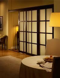 Sliding Door Room Divider Frosted Glass Room Dividers With Wenge Frame Finish Inspirational