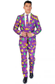 mardi gras suits purple mardi gras suit costume purecostumes