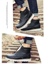 autumn and winter warm non slip breathable snow boots men u0027s shoes