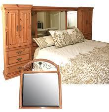 king size boyd storage headboard bed frame and vanity mirror ebth