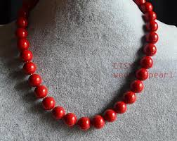 etsy beads necklace images Red bead necklace etsy jpg