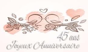 45 ans de mariage carte anniversaire mariage 45 ans branche oiseau