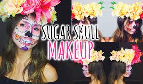 Sugar Skull Halloween Makeup Sugar Skull Halloween Makeup Tutorial Youtube