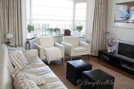 Curtains On Bay Window How To Make Double Layered Roman Blinds