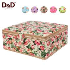 Handmade Fabric Crafts - multi function storage box handmade fabric covered wooden storage
