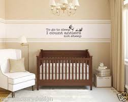 to go to sleep i count antlers not sheep quote vinyl wall decal