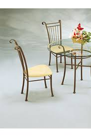 Slat Back Dining Chairs Classic Vertical Slat Back Metal Dining Chair W Cushion Free