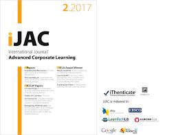 design studies journal template international journal of advanced corporate learning ijac