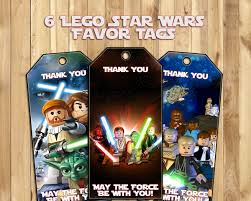 wars party favors lego wars party favor tags by instbirthday on zibbet
