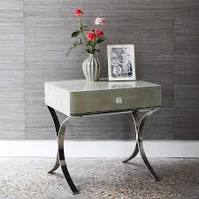 rectangle shagreen side table