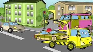 car cartoon kids tow truck u0026 monster truck car accident