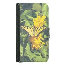 yellow butterfly insects butterflies samsung galaxy s5 wallet