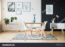modern dining room designed scandi style stock photo 704113963