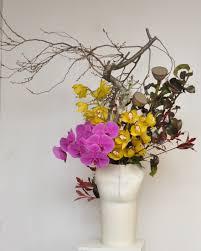 Japanese Flower Arranging Vases Japanese Ikebana Arrangement For Shue Uemura Event Yuga Cafe And