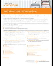 irs response library on checkpoint tax u0026 accounting