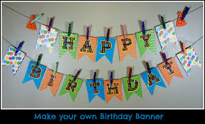 make your own birthday pennant banner a sparkle of genius