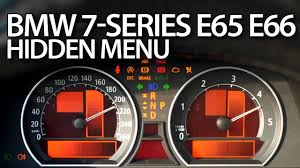 how to enter hidden menu in bmw e65 7 series service test