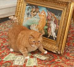 Rich Cat Meme - fat rich money cat theme song cats hall of fame generic text post