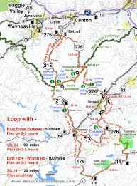 Tennessee On The Map by Motorcycle Ride Maps Smoky Mountain Motorcycle Rider