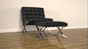 Rhino Chair Barcelona Chair U0026 Ottoman Rhino 3d Render Animation Youtube