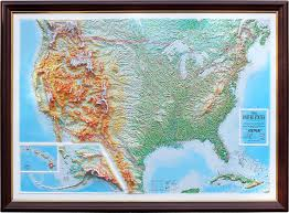 us map framed us raised relief map zoom raised relief maps 3d topographic map