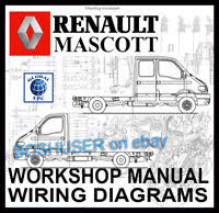 renault master mascott movano van workshop service repair manual