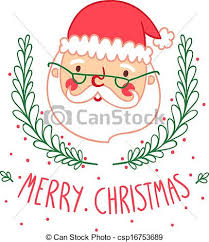 vector of christmas card with santa csp16753689 search clip art