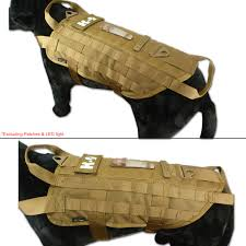 tactical military k9 molle service dog harness police german