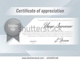 certificate appreciation template stock vector imagem vetorial de
