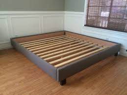 Black King Platform Bed Bed Frame No Headboard Ideas With Gallery And Platform Without