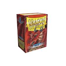 dragon shield sleeves red 100 accessories magic madhouse uk
