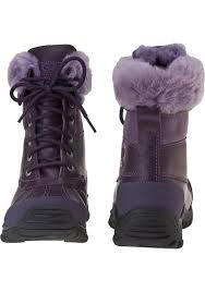 ugg s adirondack winter boots lyst ugg adirondack ii boot blackberry wine leather in purple