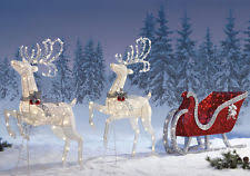 Christmas Reindeer Decorations Outdoor by Outdoor Christmas Reindeer Outdoor Christmas Decorations Ebay