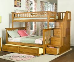 Columbia Full Over Full Bunk Bed by Columbia Staircase Bunk Bed Caramel Latte Bedroom Furniture