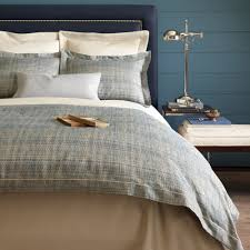biagio blue duvet cover u0026 shams by peacock alley brass bed fine