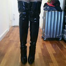 womens thigh high boots size 12 51 pleaser shoes s size 12 patent leather thigh high