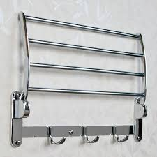 folding towel rack bathroom