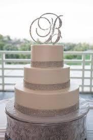 crystal monogram wedding cake toppers swarovski crystal cake