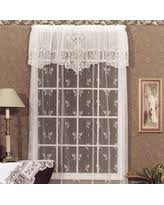 White Lace Window Valances Great Deal On Mainstays Battenburg White Lace Window Valance
