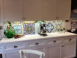 Cement Tile Backsplash by Avente Tile Talk Cement Tile Patchwork Makes Kitchen Backsplash Sing