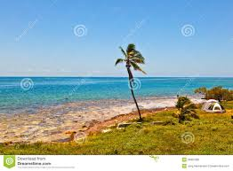 Map Of The Florida Keys Tropical Beach With Clear Water In The Florida Keys Stock Photo