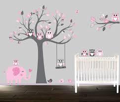 stickers arbre chambre bébé stickers muraux de hibou baguette childrens vinyle
