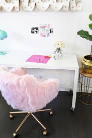 faux fur desk chair faux fur office chair best home chair decoration