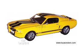 Yellow Mustang With Black Stripes 1967 Shelby Mustang Gt 500e Hard Top By Shelby 1 18 Scale Diecast
