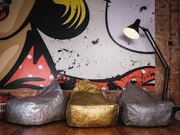 siege poire coussin de sol gris pouf design siège poire moderne pouf