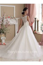 Vintage Ball Gown Strapless Tulle Wedding Dress With Detachable Glamour Ball Gown Sleeveless Vintage Lace Glitter Tulle Wedding Dress