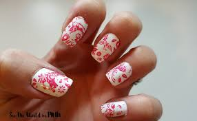 manicure tuesday moyou london stamped nails week 2 see the